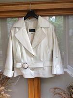 Кожаная куртка женская. Покрой кимоно. Размер 46-48