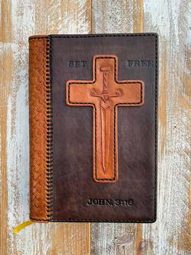 Indexed Bible - 100% Leather custom made