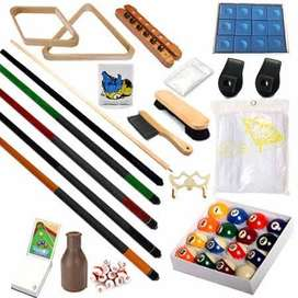 Large range of pool table accessories