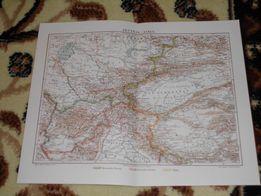 Oryginalne XIX w. mapy EUROPY, AZJI, AMERYKI, ŚWIATA do wystroju wnętz