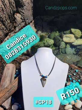 Fossilized Shark Tooth Necklaces