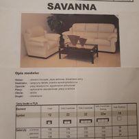 Sofa 3 osobowa+fotel+pufa