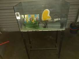2 foot fishtank with stand and alot of accessories.