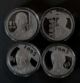 Complete RSA Proof Sterling Silver R1's Nobel Peace Prize Winners