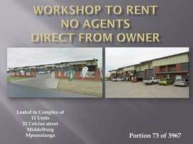 WORKSHOP TO RENT IN COMPLEX - NO AGENTS