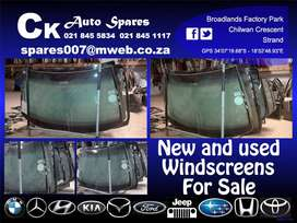 New and used windscreens for sale for most vehicles make and models.