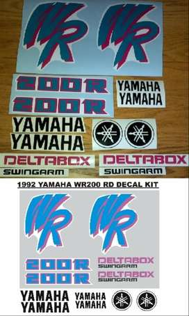 WR 200 decals stickers - 1992 designs
