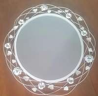 Image of Beautiful oval, ivory color Mirror