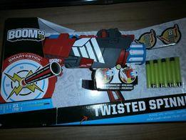 Nerf Firestrike, Strongarm, BoomCo Twisted Spinner nowe