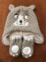 Шапка M&S +рукавички 3-6м