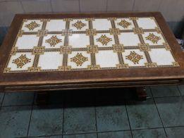 Lawa debowa z kafelkami stół z płytkami
