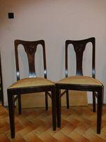 Krzesla 2 szt krzesło bardzo dobrze uchowane wykonane drewniane ANTYK