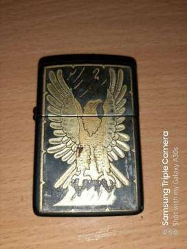 Original Zippo lighter with leather carry case