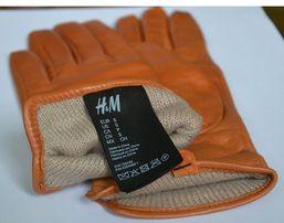 Rękawiczki skórzane H&M damskie S