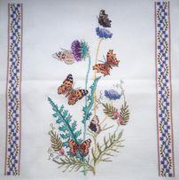 Вышивка крестом. Мулине. 10-14 . Бабочки. Работа без рамки.