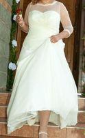 Suknia ślubna - z muślinu.