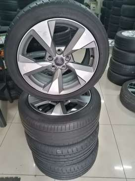 Fairly used Audi mag set wheels 255/45R17 with center caps