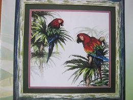 Схема вышивки крестиком Попугаи