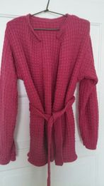 Sweter-kardigan Oversize-wełniany ,
