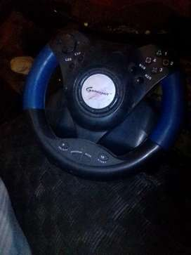2 controls steering wheel and foot pedal