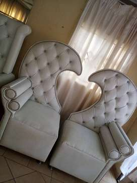 I have owned these king and queen chairs for three years