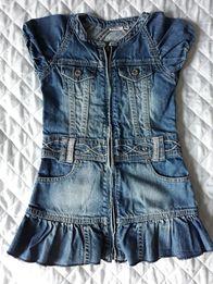 Sukienka jeans dżinsowa ROZ 104