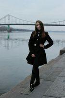 Осеннее Женское Пальто D&G Черное качество