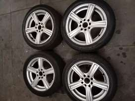 Mag wheels /rims with tyres-.
