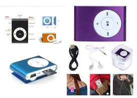 New! Mini MP3 Player incl Clip, headphones and Charging cable