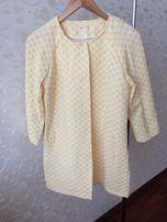 Продам женское пальто на весну в желтую клетку KING KONG (оригинал)