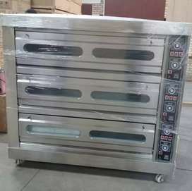 Brand new 3 Deck 9 tray electric baking ovens