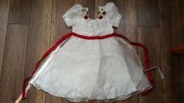 Sukienka biała, dł. całkowita 68cm.