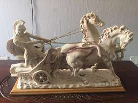 Vintage Roman chariot Statue Marble