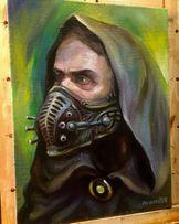 Картина маслом «Постапокалипсис» живопись холст масло