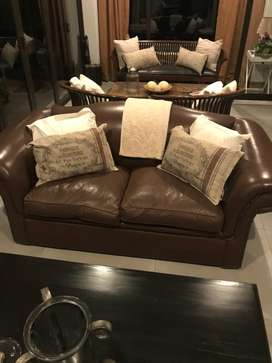 "Indonesian wood and leather imported ""Paddy  Suite"""