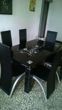 Dining table by six with six chair 0