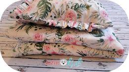 Pościel in garden 90x120 dla dziewczynki dla dziecka kwiaty 100x135