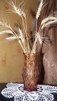Ваза для цветов вазочка коричневое стекло винтаж раритет СССР,хрусталь