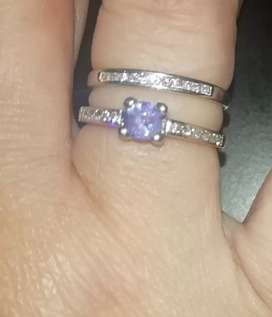 Tanzanite engagement set for sale
