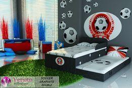 Łóżko dla dziecka,piętrowe z piłką nożna,dziecięce z materacami 10cm