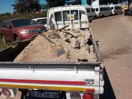 Bakkie for hire and rubble removal