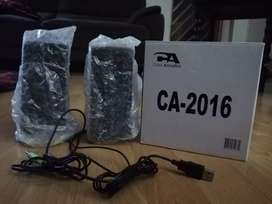 Cyber Acoustics CA-2016 Computer Speakers, 2.0 USB Powered, Brand NEW