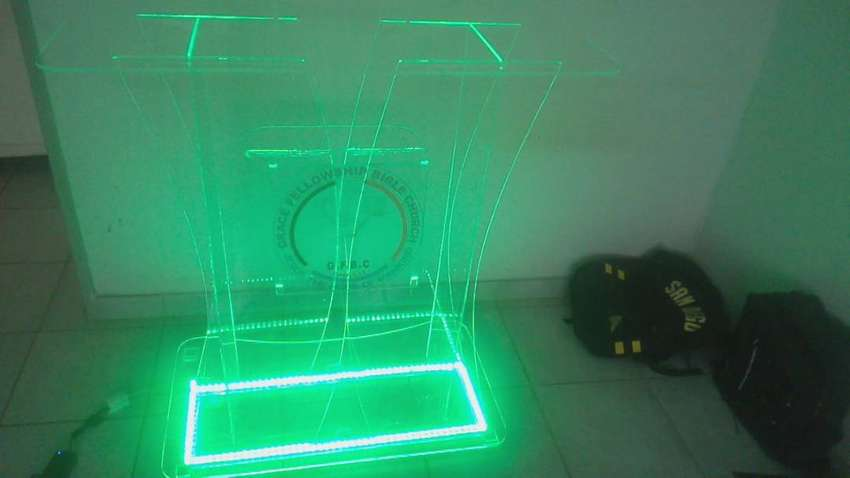Multicolored LED Customized Podium 0