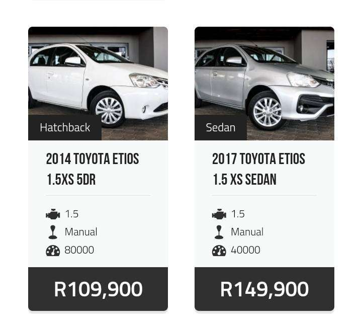 Selling various types of cars from 69900 0
