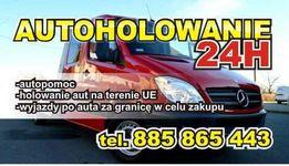 Holowanie pomoc drogowa autoholowanie laweta autohol autolaweta 24h
