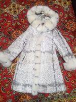Шубка с капюшоном из меха кролика