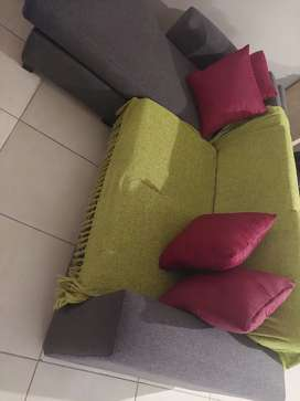 Grey L Couch