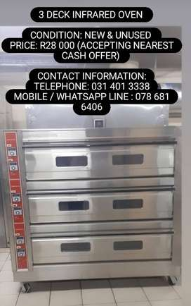 REDUCED TO R23000 3 Decker Infrared Oven