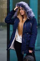 Зимняя женская парка на меху -25. Куртка теплая овчина
