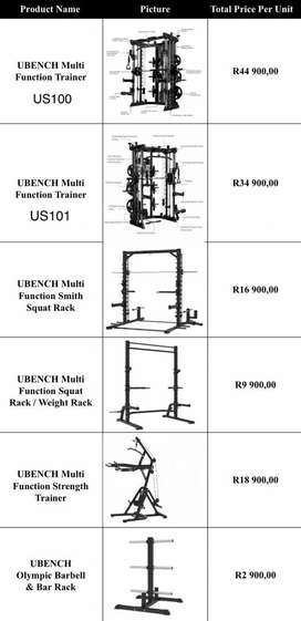 Gym Equipments and Weights (UBench)